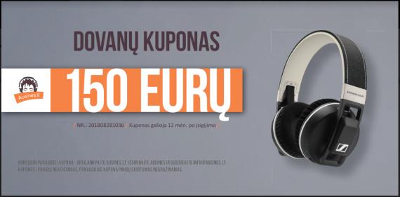 Dovanų kuponas 150 eurų