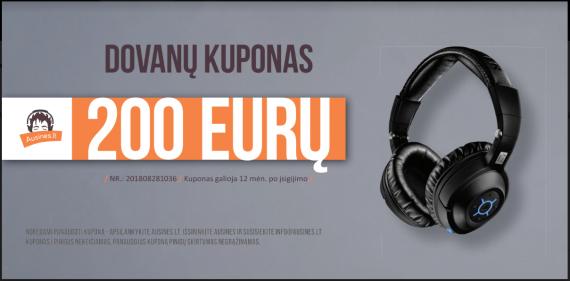 Dovanų kuponas 200 eurų