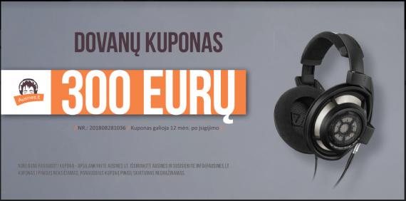 Dovanų kuponas 300 eurų