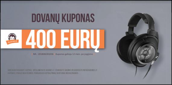 Dovanų kuponas 400 eurų