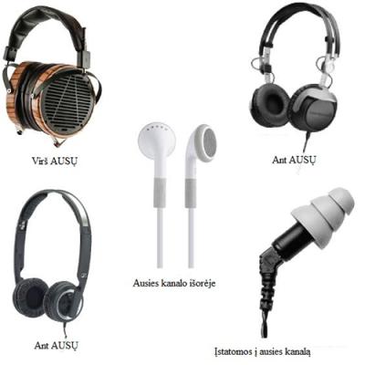 Kokie yra ausinių konstrukcijų tipai?