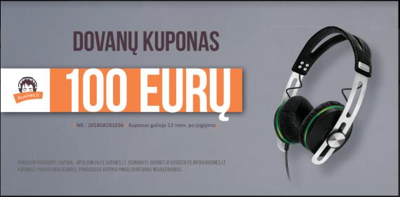 Dovanų kuponas 100 eurų